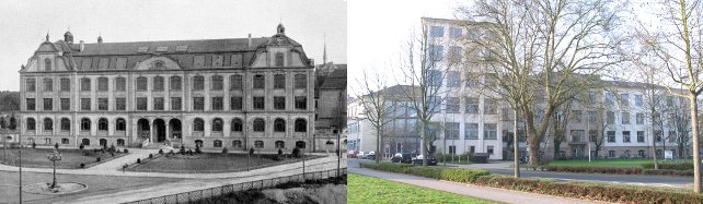 Building of the Royal Higher Mechanical Engineering School Aachen in 1907 and of the Faculty of Mechanical Engineering and Mechatronics in 2012