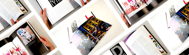 Ein Foto von mehreren aufgeschlagenen Boxhorn Magazinen.
