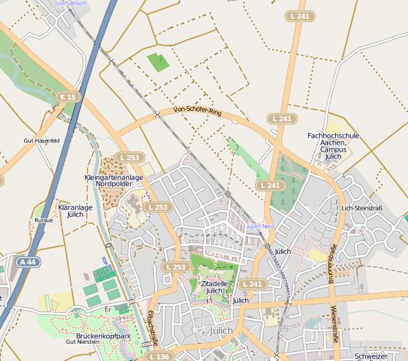 Lageplan in OpenStreetMap