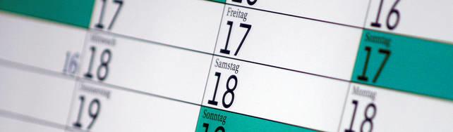 Ansicht eines Kalenders